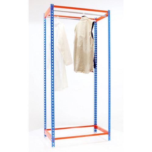 Estanteria simonclothing 2 colgadores azul/naranja