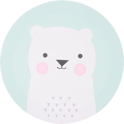 Canva redonda oso turquesa 30x30 cm