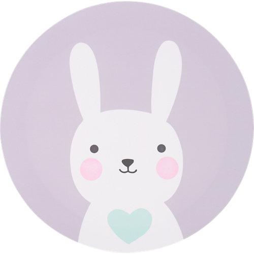 Canva redonda conejo gris 30x30 cm