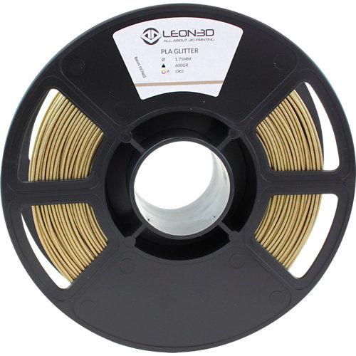 Bobina de filamento leon 3d pla glitter
