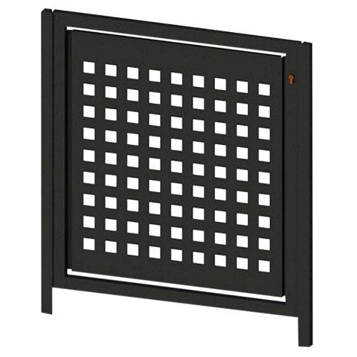 Puerta peatonal square up negro 100x100 cm