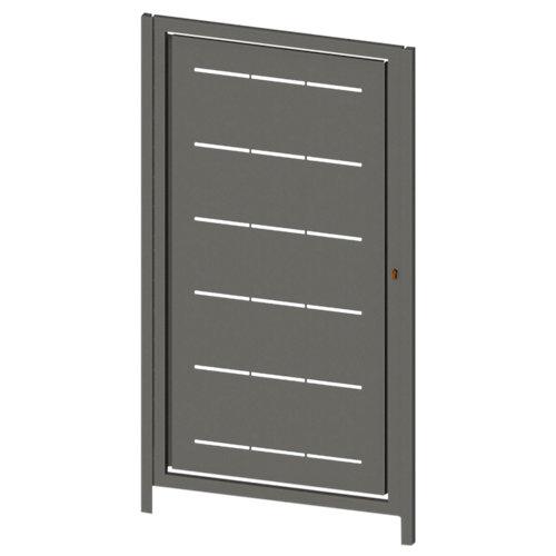 Puerta peatonal lines gris forja 100x150 cm