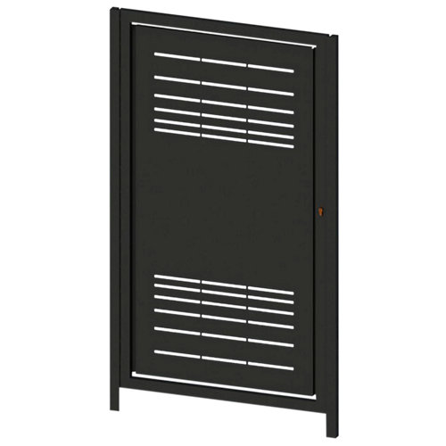 Puerta peatonal parallels negro 100x150 cm