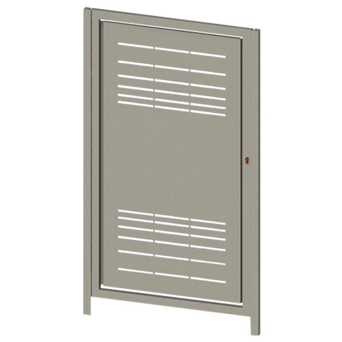 Puerta peatonal parallels blanco 100x150 cm