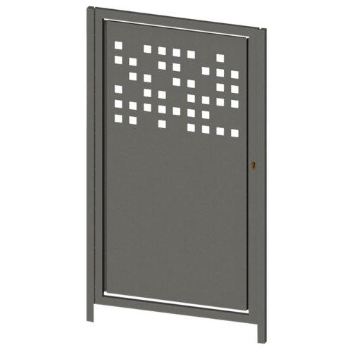 Puerta peatonal tetris up gris forja 100x150 cm