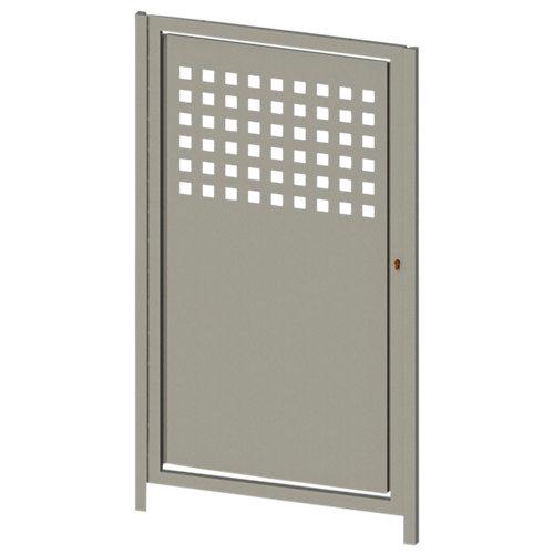 Puerta peatonal square up blanco 100x150 cm