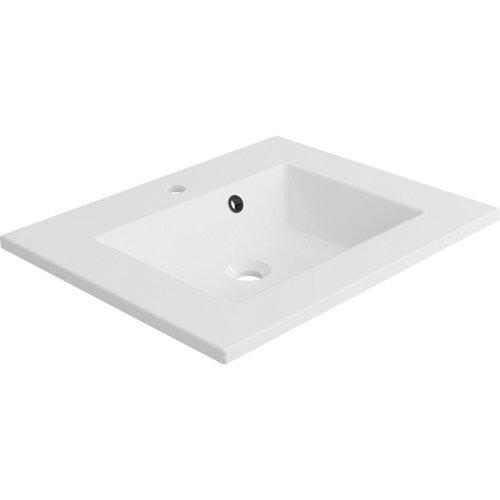 Lavabo modern resina blanco 61x11.2x48.5 cm