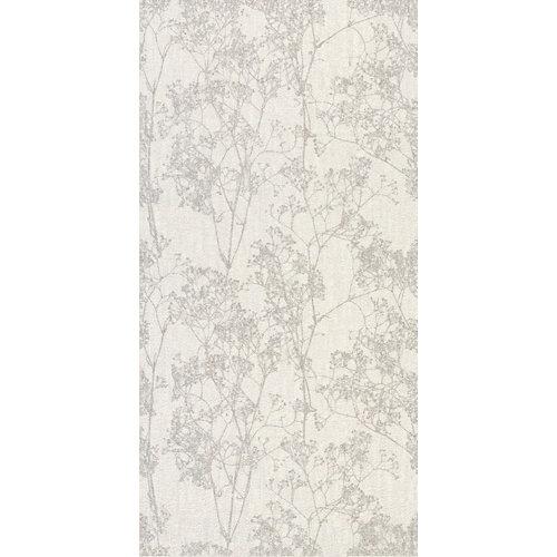 Azulejo de decoración tessile 30x60 de pasta blanca gris / plata