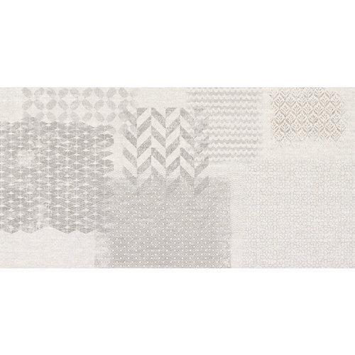 Azulejo de decoración tessile de pasta blanca gris / plata