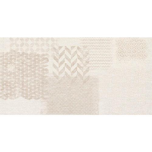 Azulejo de decoración tessile de pasta blanca marrón