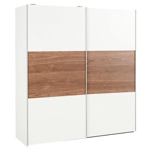 Armario ropero puerta corredera k511 one blanco / nogal 180x200x60cm