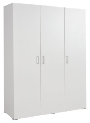 Armario Serie One blanco abatible 3 puertas 200x150x50cm