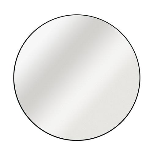 Espejo redondo circle negro negro inspire 52 x 52 cm