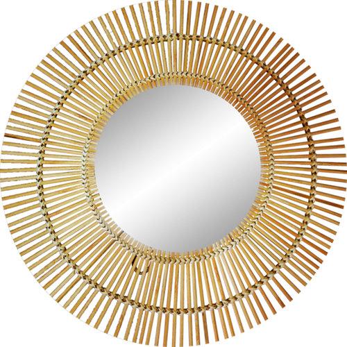 Espejo redondo bamboo natural natural inspire x cm
