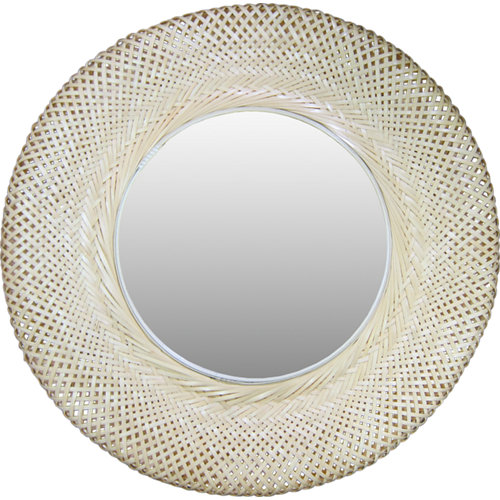 Espejo redondo utaka natural natural inspire 55 x 55 cm