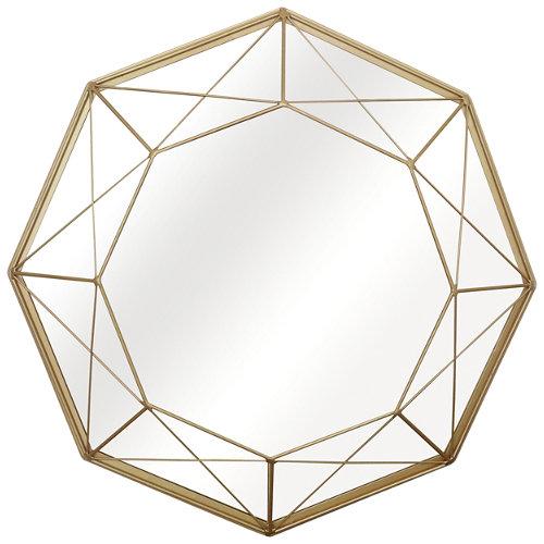 Espejo redondo filar dorado dorado inspire 46 x 46 cm