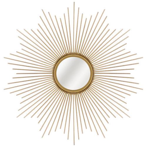 Espejo redondo sol dorado dorado inspire 57 x 57 cm