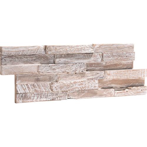 Revestimiento adhesivo serie ultrawood blanco 18x49,5 cm