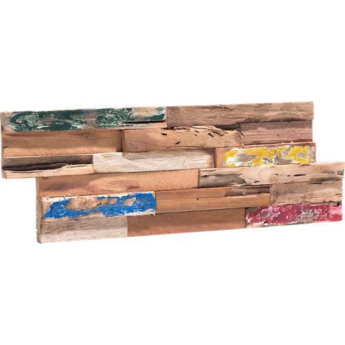 Revestimiento adhesivo de madera multicolor 18.5 x 49.5 cm