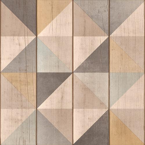 Papel rombos marrón 5,3 m²