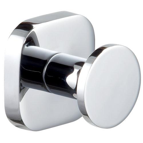 Percha de baño bassic gris / plata brillante