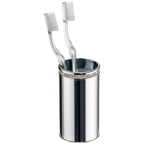 Vaso de baño carmen gris / plata blanco brillante