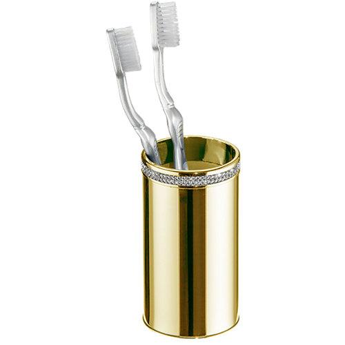 Vaso de baño carmen amarillo / dorado brillante