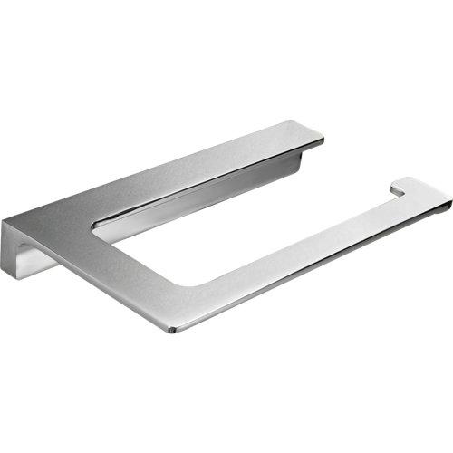 Portarollo wc nicole gris / plata brillante 16x2.3x9 cm