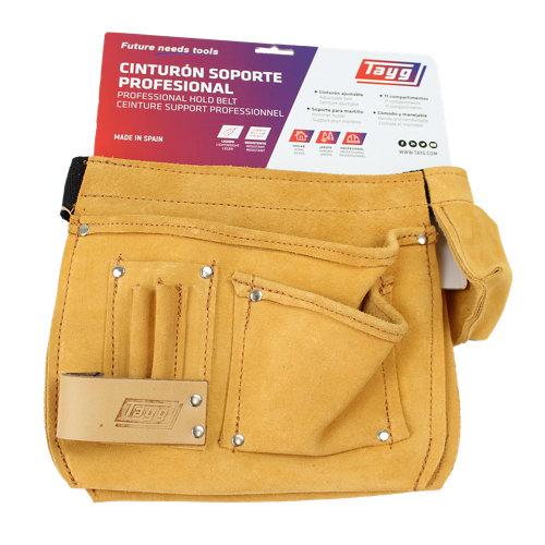 Portaherramientas de cuero 12 bolsillos