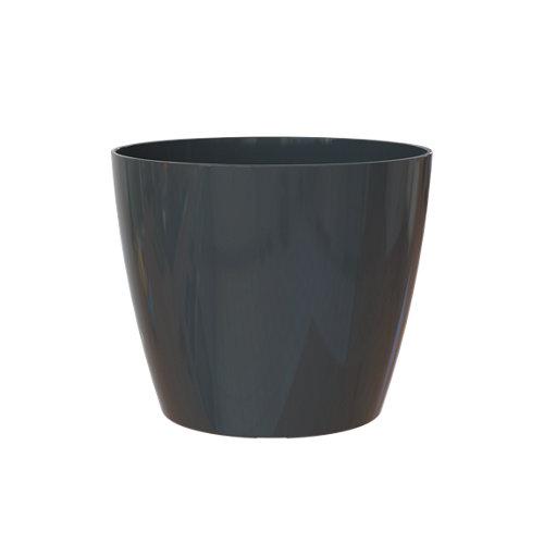 Maceta redonda san remo antracita 12,5x12,5x11,5cm