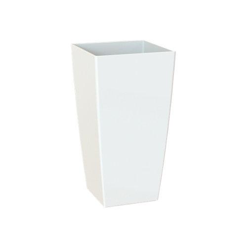 Maceta cuadrada alta pisa blanco 40x40x78cm