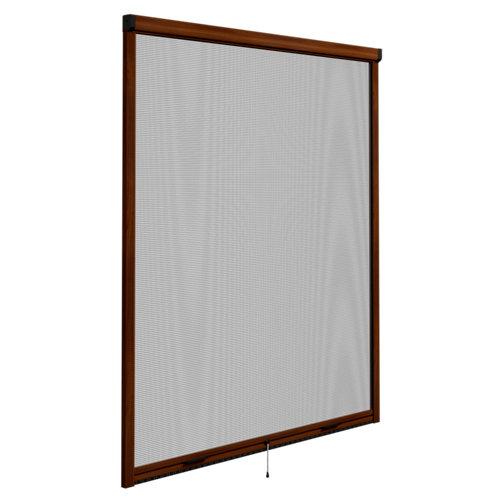 Mosquitera enrollable elite roble para ventana de 100x140 cm (ancho x alto)
