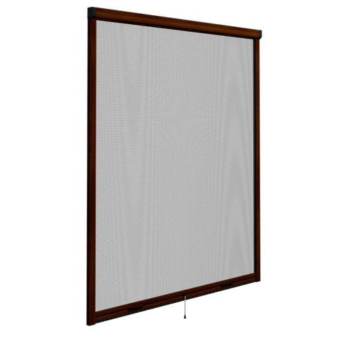Mosquitera enrollable elite nogal para ventana de 140x140 cm (ancho x alto)