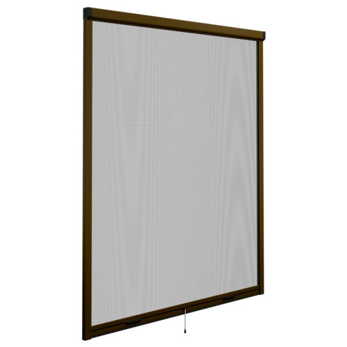 Mosquitera enrollable elite bronce para ventana de 120x140 cm (ancho x alto)