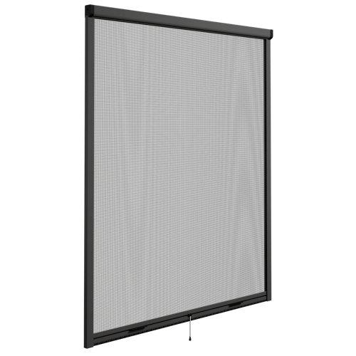 Mosquitera enrollable elite color gris para ventana de 100x140 cm (ancho x alto)
