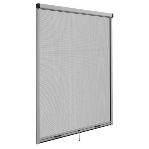 Mosquitera enrollable elite color plata para ventana de 100x10cm (ancho x alto)