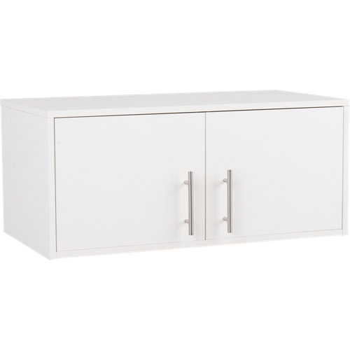 Armario madera en kit en color blanco de 35x80x42 cm con 2 puertas