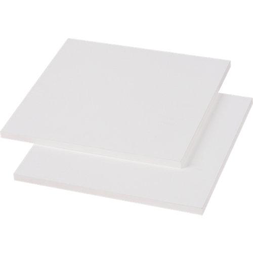 Pack 2 baldas 37x38x1,6 cm color blanco