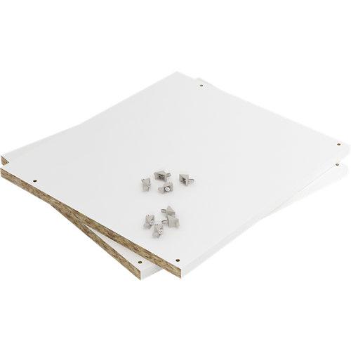 Pack dos baldas 37x33x4 cm color blanco