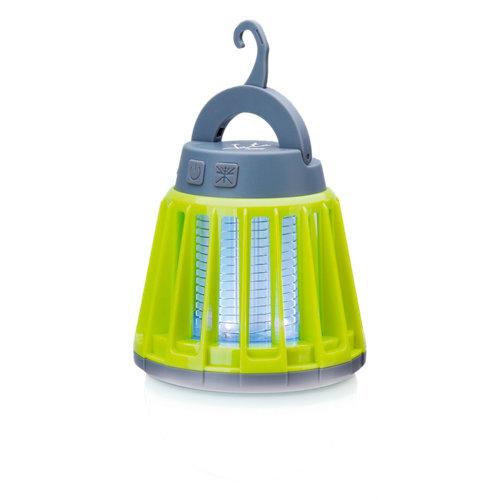 Lámpara eléctrica mata insectos jata verde