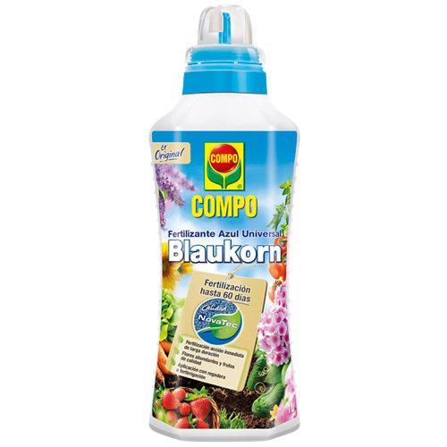 Fertilizante azul universal blaukorn compo para todo tipo de plantas 1l