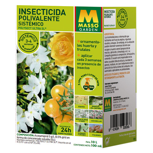 Insecticida massó polivalente sistémico 100 ml