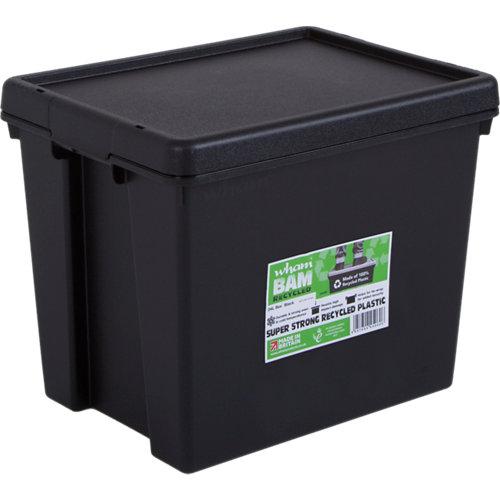 Caja bambox recicable negro 31x29x38 cm 24l