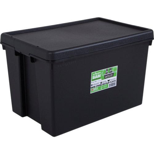Caja bambox reciclada negro de 37x40x59 cm 62l