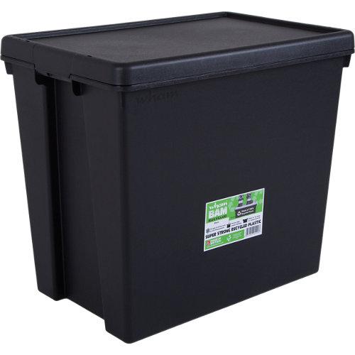 Caja bambox reciclada negro de 52x39x60 cm 92l