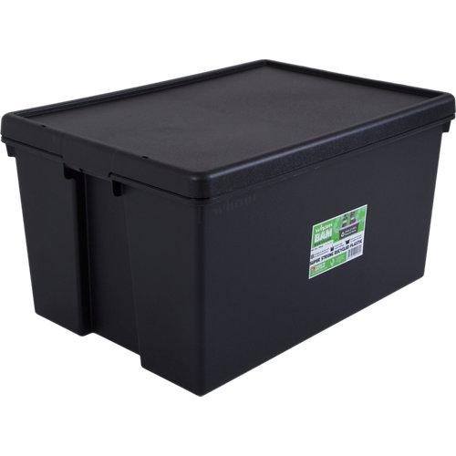 Caja bambox reciclable negro 96l