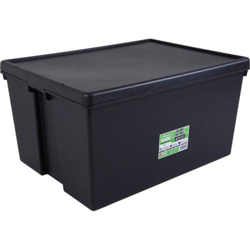 Caja bambox reciclada negro de 42x59x80 cm 150l