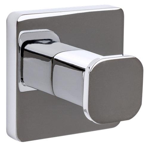 Percha de baño epsilon gris / plata brillante
