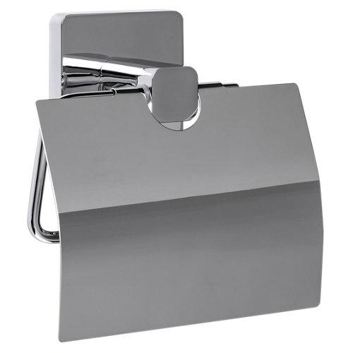 Portarollo wc epsilon gris / plata brillante 15.5x17.5x8 cm
