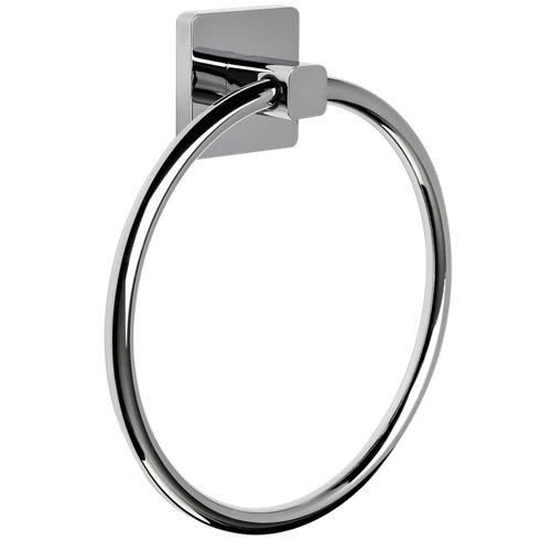 Toallero epsilon gris / plata cromado brillante 21x27 cm